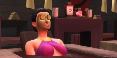 Грязевая ванна и маска в The Sims 4 День спа