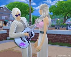 Серенада на гитаре в Симс 4