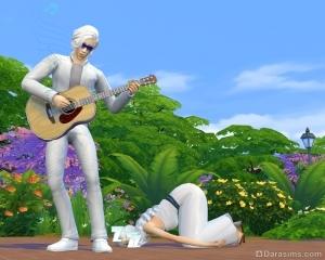 Колыбельная на гитаре в Симс 4
