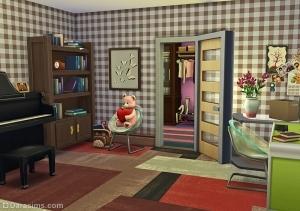 Одинарная открытая дверь sims 4