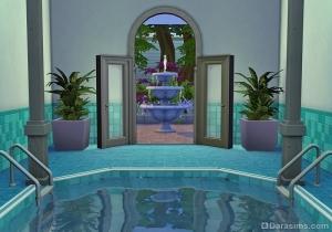 Широкая дверь с аркой