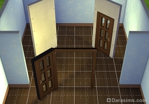 Размещение двери у проема