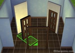 Размещение дверей в Симс 4