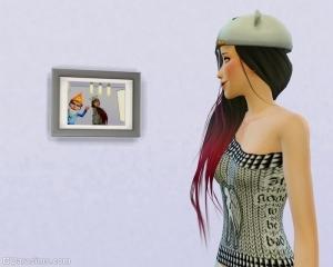 Гном на фотографии в Sims 4