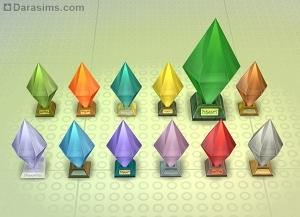 кристаллы-светильники sims 4