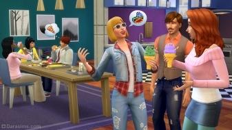 Мороженое на классной кухне в The Sims 4 Cool Kitchen