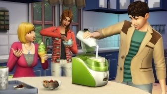 Приготовление мороженого в каталоге The Sims 4 Классная кухня