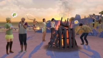 Костер на пляже в «The Sims 4 Веселимся вместе»