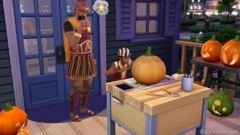 Вырезание фонаря из тыквы в «The Sims 4 Жуткие вещи»