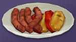 Сосиски с болгарским перцем