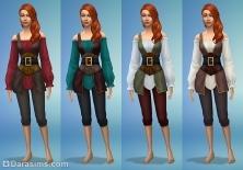 новые женские костюмы в симс 4 жуткие вещи