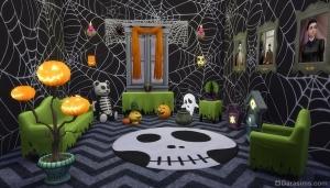 новинки интерьера в sims 4 spooky stuff