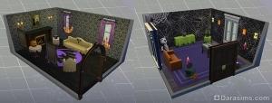 новые комнаты в каталоге симс 4 жуткие вещи
