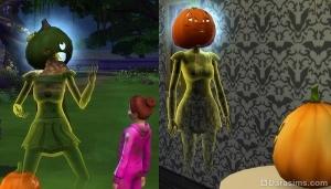 симс 4 призраки с тыквами