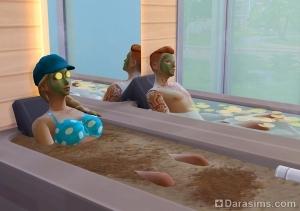 Грязевые ванны в The Sims 4 Spa Day
