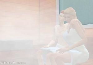 Сауна, парилка в Sims 4 день спа