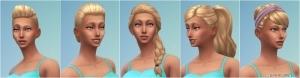 Новые женские прически в the Sims 4 Spa day