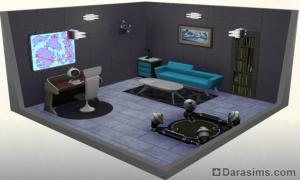 Стилизованная тайная комната: награда за 10-ую ступень в карьере тайного агента в Симс 4