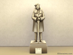 Награда тройного агента в Симс 4: скульптура настоящего злодея