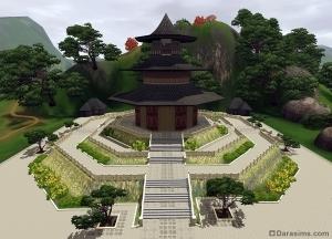 Небесный храм в Симс 3 Мир приключений