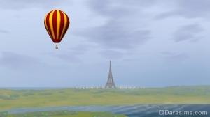 Вид на Эйфелеву башню в Шам ле Сим