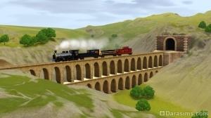 Шам ле Сим: акведук и поезд