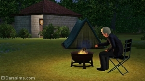 Шам ле Сим в Симс 3 Мир приключений: палаточный лагерь