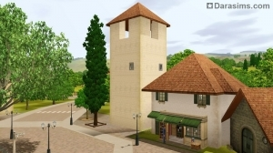 Шам ле Сим, здание с колоколом