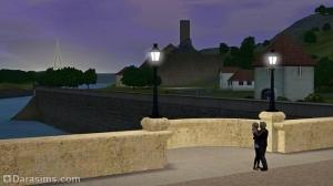 Ночной вид с моста на Шам ле Сим
