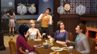 Групповое собрание гурманов в The Sims 4 Веселимся вместе