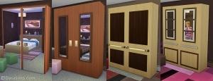 гардеробные шкафы sims 4