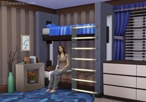 двухъярусная кровать в симс 4