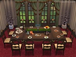 праздничный стол в симс