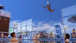 симс 4 прыжки в бассейне