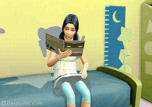 сим читает книгу по навыку