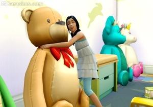 the sims 4 плюшевый медведь