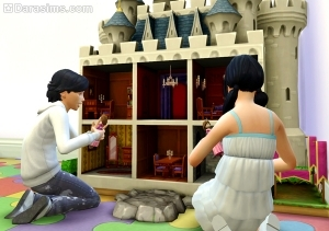 the sims 4 кукольный домик
