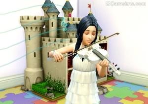 сим играет на музыкальном инструменте