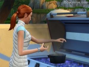 сим готовит снадобье на гриле