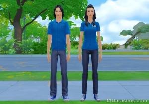 Униформа продавцов в подростковых карьерах в The Sims 4