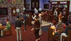 Симы на клубной встрече в The Sims 4 Веселимся вместе