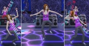 Танец со светящимися палочками