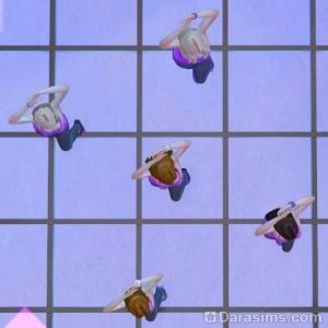 5 танцоров на танцполе