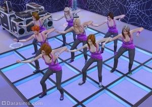 8 танцоров на танцполе