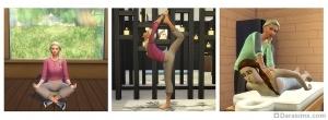Медитация, йога и массаж в Симс 4 День спа