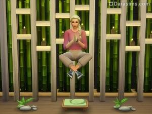 медитация и телепортация в Симс 4 День спа