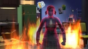 Призрак на пожаре в Симс 4