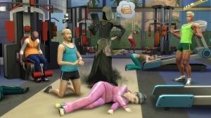 Пожилые симы умирают в спортзале от перенапряжения