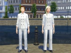 униформа в карьере кулинарии Симс 4