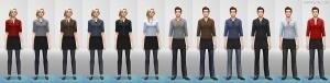 Униформа бармена в Sims 4 CAS